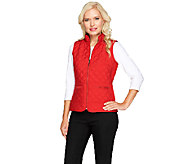 Joan Rivers Quilted Zip Front Vest with Pockets - A258068