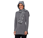 Due North Wind Resistant Hooded Scarf w/ Self-Locking Feature - A258668