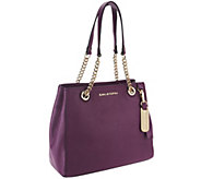 As Is Emma & Sophia Printed or Solid Pebble Leather Tote - A263168