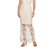 G.I.L.I. Petite Venice Lace Maxi Skirt with Scalloped Hem - A266068