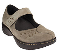 As Is Dansko Leather or Suede Mary Janes w/Stitch Details - Annie - A269068