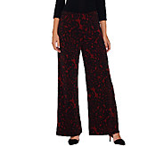Bob Mackies Regular Pull-On Lace Print Knit Pants - A269568