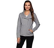Liz Claiborne New York Fleece Back French Terry Jacket w/ Lace - A271368