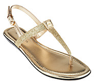 As Is Marc Fisher T-strap Sandals w/ Backstrap - Ademi - A271768