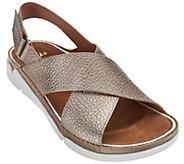 Clarks Artisan Leather Cross Strap Sandals - Tri Alexia - A274768