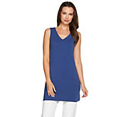 Women with Control Regular Long & Lean V-Neck Knit Tank - A276968