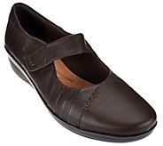 As Is Clarks Leather Mary Janes w/ Adj. Strap - Everlay Daphne - A278768