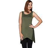 LOGO Layers by Lori Goldstein Knit Tank with Godets - A279468