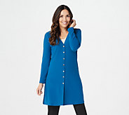 Susan Graver Textured Liquid Knit Long Cardigan - A279768