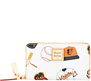 Dooney & Bourke MLB Orioles Zip Around Phone Wristlet - A280868