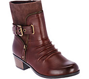 Earth Origins Leather and Suede Boots - Dolly - A282868