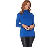 Susan Graver Weekend Modern Essentials Stretch Cotton Modal Top - A283268