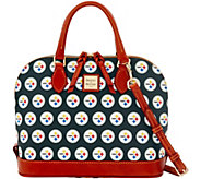 Dooney & Bourke NFL Steelers Zip Zip Satchel - A285768