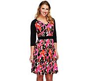 As Is Styled by Joe Zee 3/4 Sleeve Printed Dress - A288268