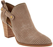 Franco Sarto Suede Perforated Ankle Boots - Dakota - A288468