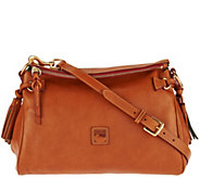 As Is Dooney & Bourke Florentine Leather Medium Zip Crossbody - A288968