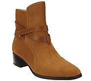As Is C. Wonder Suede Ankle Boots w/ Strap Details - Taylor - A290368