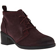 As Is Clarks Leather or Suede Lace-up Ankle Boots - Nevella Harper - A291868
