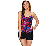 As Is St. Tropez Mesh 3- Tiered Tankini Swimsuit - A292168
