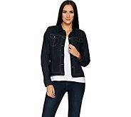 Susan Graver Stretch Denim Button Front Jean Jacket - A294868