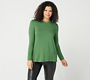 H by Halston Essentials Long Sleeve Crew Neck Top - A294968