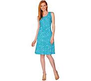 H by Halston Printed Knit Tank Dress - A295568