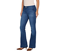 Hot in Hollywood Regular Silky Denim Flare Pull-On Jeans - A295668