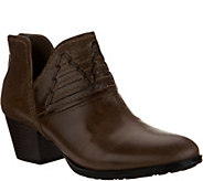 Earth Leather Block Heel Booties - Merlin - A298268