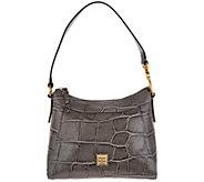 Dooney & Bourke Croco Leather Large Cassidy Hobo Handbag - A300768