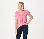 Laurie Felt Short Sleeve V-Neck Perfect T-Shirt - A301668