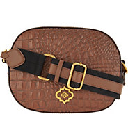 As Is orYany Embossed Leather Crossbody- Paisley - A304268