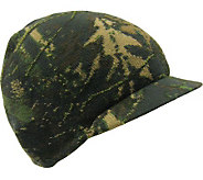 QuietWear Digital Knit Camo with Green Tech Visor Cap - A314968