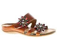 Spring Step LArtiste Melange Leather Slide Sandals - A332268