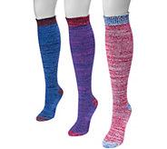 MUK LUKS Womens 3 Pair Pack Microfiber Knee High Socks - A361468