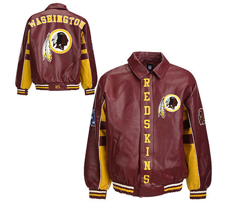 NFL Washington Redskins Faux Leather Jacket   QVC.com