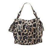 B. Makowsky Leather Hobo with Zipper Pockets and Tassel Detail - A221269