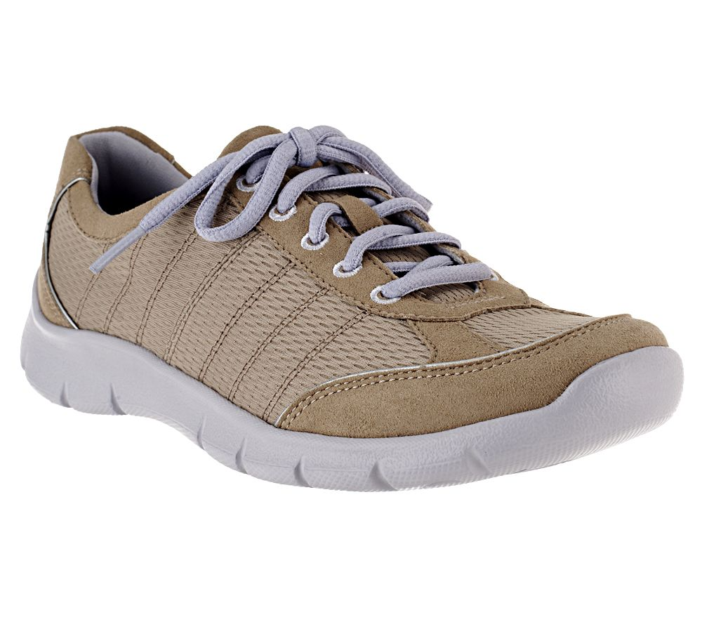 clarks bendables hedge altoona mesh lace up walking review
