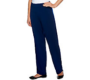 Joan Rivers Regular Luxe Knit Straight Leg Pull-on Pants - A251569