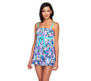 Fit 4 U Thighs Islander Bandeau Tie Swim Dress - A252569