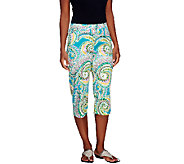 Susan Graver Printed Cotton Sateen Pedal Pusher - A255369