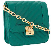 Isaac Mizrahi Live! Bridgehampton Lamb Leather Crossbody - A258769