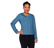 Dennis Basso Textured Boucle Jacket - A263169
