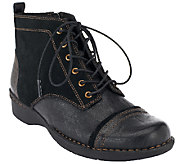 As Is Clarks Bendables Leather & Suede Lace-up Boots - Whistle Watch - A264769