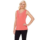 Susan Graver Artisan Liquid Knit V-Neck Sleeveless Top - A265869
