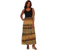 Women With Control Printed Sleeveless Maxi Dress