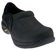 As Is Dansko Nubuck Slip-On Shoes with Vibram - Celeste - A269069
