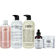 philosophy supersize cleanse, treat & renew set - A271769