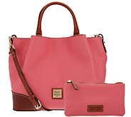 As Is Dooney & Bourke Pebble Leather Brenna Satchel - A278969