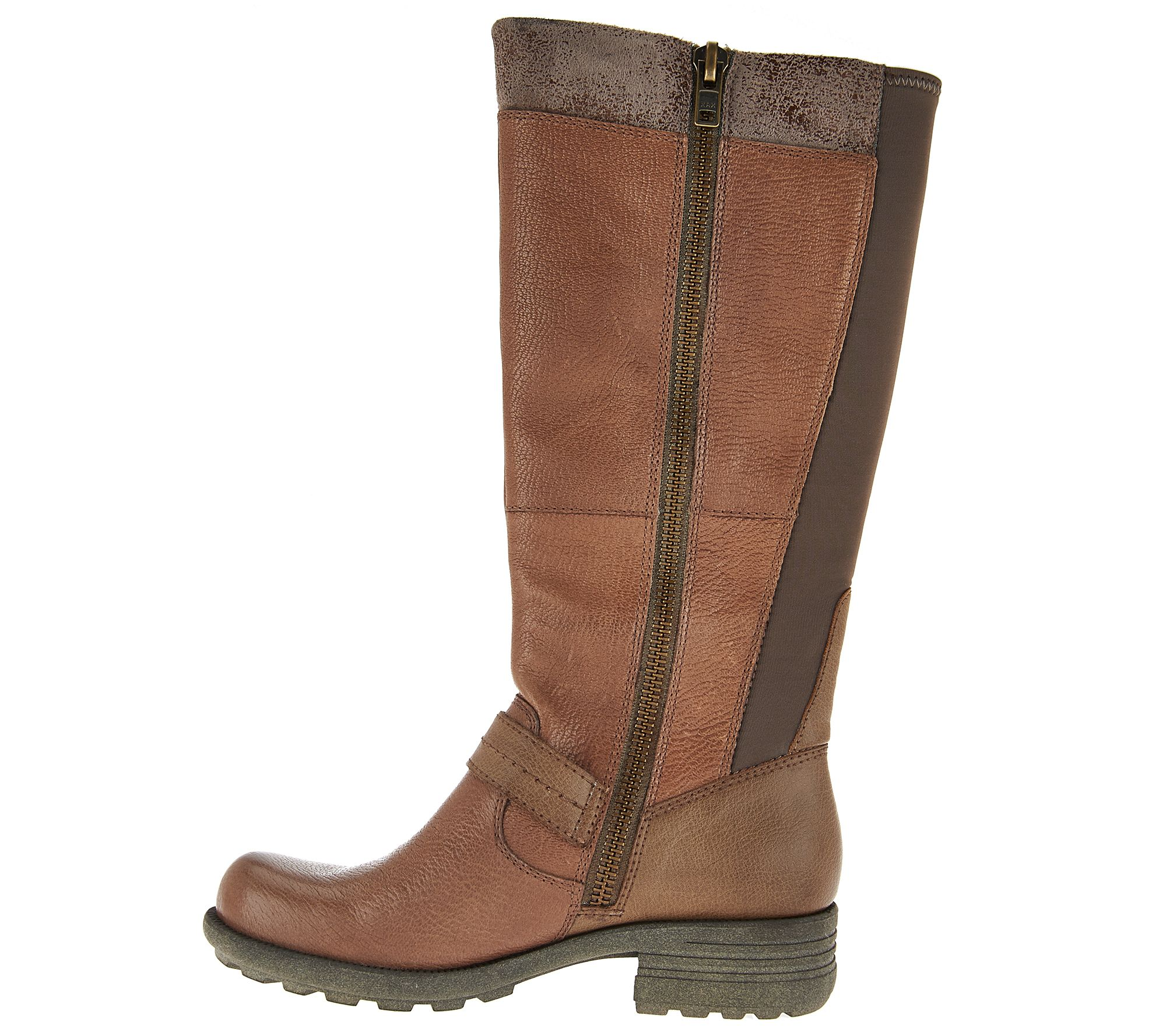 Earth Origins Leather Wide Calf Tall Boots - Portia - Page 1 — QVC.com