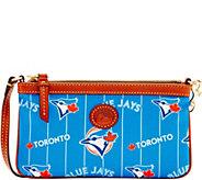 Dooney & Bourke MLB Nylon Blue Jays Large Slim Wristlet - A281669